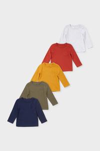 Baby-Langarmshirt - 5er Pack