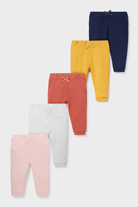 Baby-Jogginghose - Bio-Baumwolle - 5er Pack