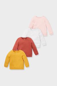 Baby-Sweatshirt - Bio-Baumwolle - 4er Pack