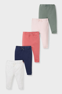 Baby-Thermo-Jogginghose - Bio-Baumwolle - 5er Pack