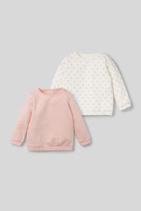 Baby-Sweatshirt - Bio-Baumwolle - 2er Pack