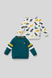Dino - Baby-Sweatshirt - Bio-Baumwolle - 2er Pack
