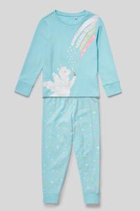 Pyjama - Bio-Baumwolle - 2 teilig - Glanz-Effekt