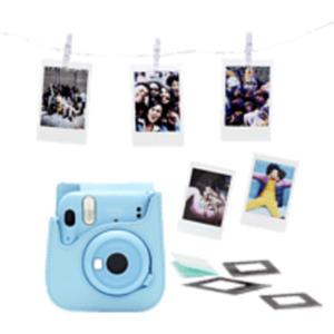 FUJIFILM instax mini 11 Sky-Blue Bundle Sofortbildkamera, SKY-BLUE
