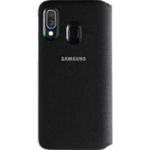 SAMSUNG Flip Cover mit Visitenkartenfach  für Samsung Galaxy A40 in Schwarz