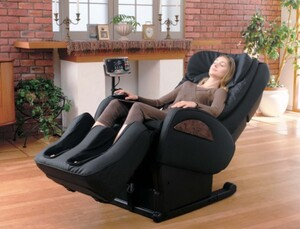 High Class Massagesessel Sanyo DR 7700, schwarz