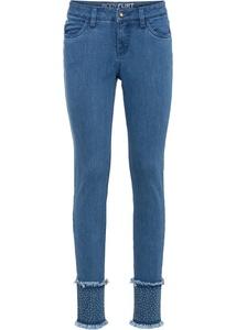 Skinny-Jeans mit recyceltem Polyester