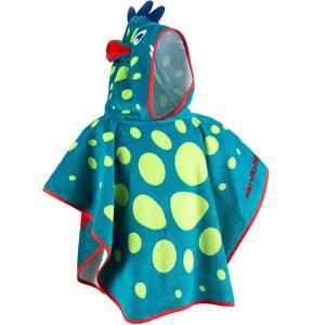 Bade-Poncho mit Kapuze Baby Print Drache blau/grün