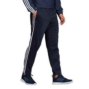 Trainingshose Fitness 3 Streifen marineblau