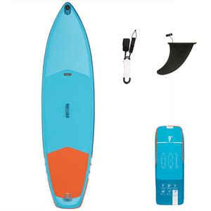 SUP-Board Stand Up Paddle aufblasbar X100 Touring 9' Einsteiger blau/orange