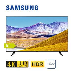 GU82TU8079 · 3 x HDMI, 2 x USB, CI+ · integr. Kabel-, Sat- und DVB-T2-Receiver · Maße: H 104,5 x B 183 x T 6 cm · Energie-Effizienz A+ (Spektrum A+++ bis D)  Bildschirmdiagonale: 82?/207 cm