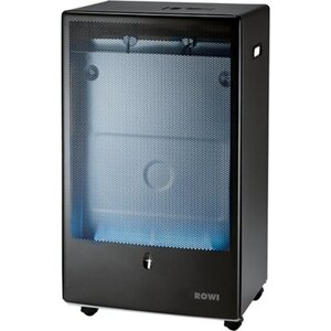 Rowi Gas-Heizofen Blue Flame mit Druckregler + Thermostat Anthrazit 4,2 kW EEK:A