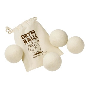 Trocknerbälle aus Wolle, 4er Pack