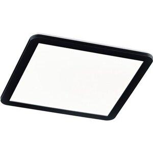 Trio LED-Panel Camillus IP44 40 cm x 40 cm 24 W mit Switch Dimmer Schwarz matt-W