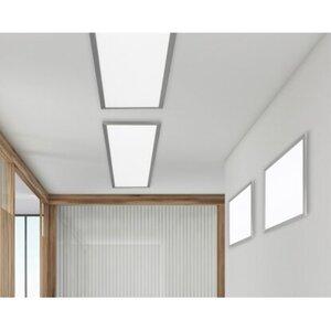 Trio LED-Deckenleuchte Phoenix Nickel matt 62 cm x 62 cm EEK: A+