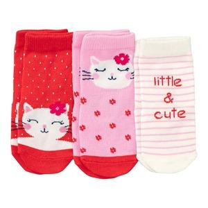 Baby-Mädchen-Socken mit Baumwolle, 3er Pack