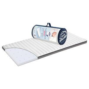 Zöllner Reisebettmatratze polyurethanschaumkern 120/60/5 cm , 7120100000 , Grau, Weiß , Textil , 60x5x120 cm , Bezug abnehmbar/waschbar, optimale Belüftung, atmungsaktiv, schadstoffgeprüft, Näss