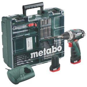 Metabo Akku-Bohrschrauber PowerMaxx BS Basic Set Mobile Werkstatt
