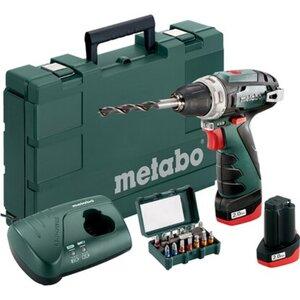 Metabo Akku-Bohrschrauber PowerMaxx BS Basic 10,8 V 2x Li-Ion + LC 40
