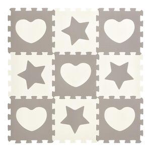 My Baby Lou BODENPUZZLE Grau, Weiß , Heart & Star , Kunststoff , 32x1x32 cm , 003072000401