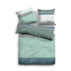 Tom Tailor Bettwäsche flanell grün 135/200 cm , 9970 , Textil , Streifen , 135x200 cm , Flanell , pflegeleicht, hautfreundlich, bügelleicht , 003336020202