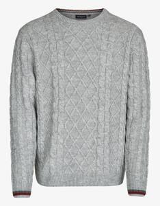 Bexleys man - Pullover mit Rauten- und Zopfmuster