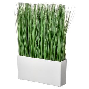 FEJKA Topfpflanze, künstlich/mit Topf, drinnen/draußen Gras