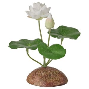 FEJKA Kunstpflanze, drinnen/draußen/Seerose weiß
