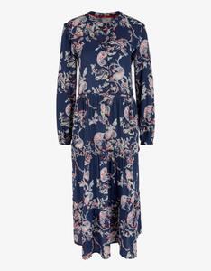 s.Oliver - Kleid mit Paisley-Muster und Rüschendetails