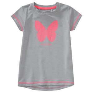 Mädchen Sport-T-Shirt mit Schmetterling-Motiv