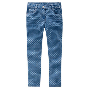 Mädchen Skinny-Jeans mit Punkte-Allover