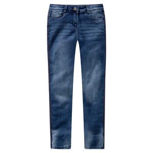 Mädchen Slim-Jeans mit Galonstreifen
