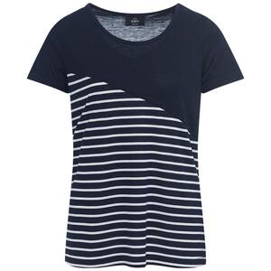 Damen T-Shirt mit schrägem Flächenteiler