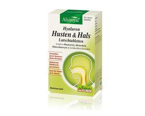 Alsiroyal Hyaluron Husten & Hals 60 Lutschpastillen