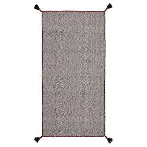 KOKSEBY Teppich flach gewebt, schwarz/weiß