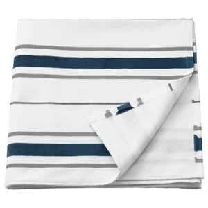 OTTSJÖN Badetuch, weiß/blau