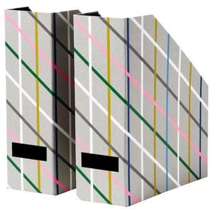 TJENA Zeitschriftensammler, grau bunt/Papier