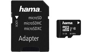 Hama microSDHC 32GB Class 10 UHS-I 80MB/s + Adapter/Foto