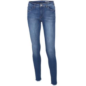 Damen Jeans in Skinny Fit mit Fransen