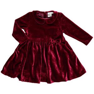 Mädchen Kleid in zartem Samt