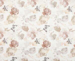 """Casa Royale Wachstuch-Tischdecke """"Ecotex"""", ca. 130 x 160 cm - Rosen/Schmetterlinge"""