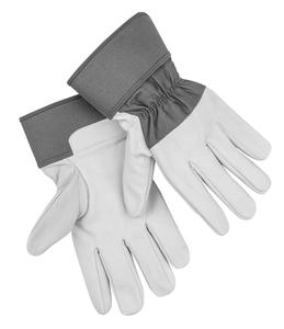 Kraft Werkzeuge Ziegenleder-Handschuhe, Größe 10 - Grau/Weiß
