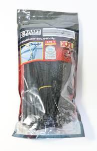 Kraft Werkzeuge Kabelbinder XXL-Pack, 940 tlg. - Schwarz