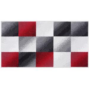 """Bella Casa Teppichläufer """"Shiraz"""", ca. 80 x 150 cm, Matrix Grau/Rot"""