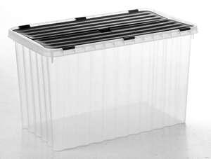 Toptex Wellenbox mit Klappdeckel - Transparent/Graphite