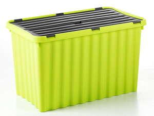 Toptex Wellenbox mit Klappdeckel - Grün/Graphite