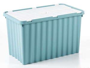 Toptex Wellenbox mit Klappdeckel - Pastellpetrol/Weiß