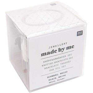 Rico Design Knüpfarmbänder Set schwarz-weiß 13x11x4,5cm