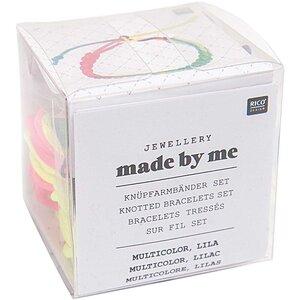 Rico Design Knüpfarmbänder Set mehrfarbig-lila 13x11x4,5cm