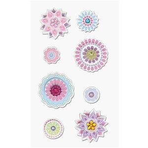 Paper Poetry 3D Sticker Blüten mehrfarbig